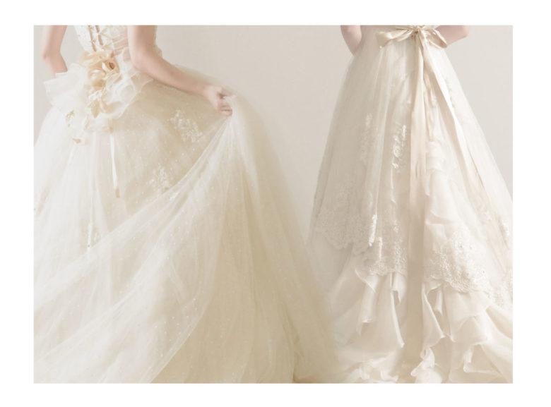 《ウェディングドレス》 ☆★おススメ♪白ドレスをご紹介 ~ No.8633 No.8634 ~★☆