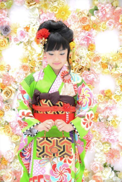 《七五三》7歳七五三女の子の日本髪を紹介します
